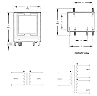 Outline Dimensions - Switch Mode/High Frequency Gate Drive Transformers