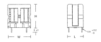 Outline Dimensions - UE/ET Series Common Mode Inductors (ET2432-018)