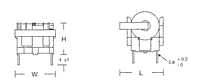 Outline Dimensions - UE/ET Series Common Mode Inductors (UT2020-001)