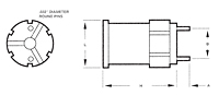 Outline Dimensions - Rod Core Inductor (RC-1)