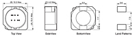 Outline Dimensions - AX104R Series SMD Power Shielded Inductors