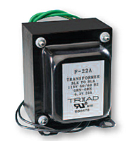 Single Secondary Chassis Mount Power Transformers (F-21A) - Case Type A