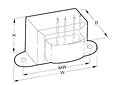 Outline Dimensions - Chassis Mount Leaded World Series™ Power Transformers (VPL10-500)