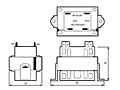 Outline Dimensions - Class-2 Power Control Transformers (TCT40-01E07AE)